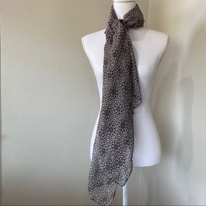 "Black and Grey Pattern Long Scarf 74""x35"" Extra Lg"